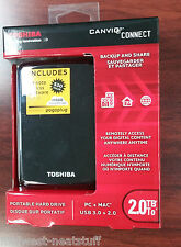 NEW Toshiba Canvio Connect External Portable Hard Drive 2.0TB 2TB USB 3.0 / 2.0