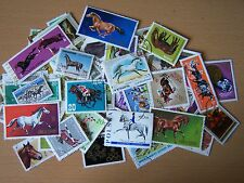 100 DIFFERENT HORSES ON STAMPS,EXCELLENT.