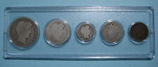 1908 US Coin Year Set 5 Coins 90% Silver