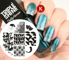 Nail Art Stamp Template Image Plate Leaf & Feather BORN PRETTY BP18