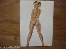 CP carte postale Postcard Illustrateur ASLAN sophie nu fkk sexy pin up