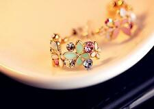 Colorful Lady Crystal Flowers Earrings Rhinestone Lots Women Ear Studs Jewelry