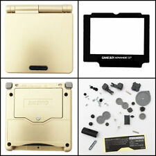 GBA SP Game Boy Advance SP Replacement Housing Shell Screen Lens Gold USA