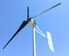 Wind Turbine 24 AC  3 Wire 3.75 kWh Generator 3 Black Blades  USED & REFBD.
