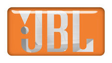 "JBL Orange 2""x1"" Chrome Domed Case Badge / Sticker Logo"