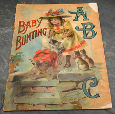 HTF 1900 Baby Bunting ABC Book by McLoughlin Bros., New York