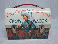 1955 ROY ROGERS & DALE EVANS CHOW WAGON Train DOME LUNCHBOX Guns,US West  C#8.5