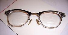 1950'S RETRO VINTAGE ART CRAFT 1/10 12K GOLD FILLED CAT EYE GLASSES 22MM