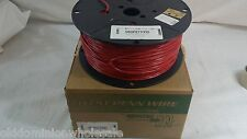 New 1000' West Penn Wire 980RD 1 Pair 18 AWG Solid PVC 980RD1000 Red