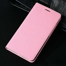 Genuine Leather Real Cow Hide Flip Wallet Hard Case Cover for iPhone 5S 6 6Plus
