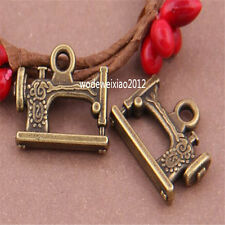 8pc Antique Bronze Bead Charms Sewing machine Pendant Accessories PL477