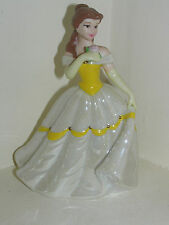 WALT DISNEY PORCELAIN PRINCESS BELLE FIGURE BEAUTY & AND THE BEAST LUSTRE DRESS