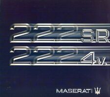 Maserati 222SR 2224v English & Spanish text sales brochure