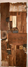 Modern Rustic Reclaimed BarnWood Art Sculpture Salvaged Recycled Natural Organic