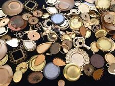 Vintage Metals Bezel Settings Charms Mix Quarter Pound 80