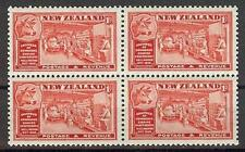 New Zealand 1936 Sc# 219 Butter industry Cow Chamber of commerce  block 4 MNH