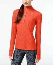 NWT Nike Element DriFit Half-Zip Pullover 685910-878 Hyper Heather Orange $65 M