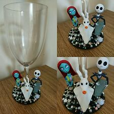 Nightmare before Christmas Jack & Sally wine glass