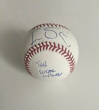 Jesse Eisenberg The Social Network Signed Baseball PSA DNA COA MOVIE Facebook