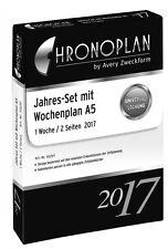 Chronoplan Kalender Einlagen 2017 A5 Jahres-Set Wochenplan 1Woche/2Seiten 50297
