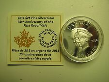 2014 Proof UHR $25 75th Anniversary 1st Royal Visit Canada COIN&COA ONLY UHR .99