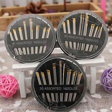 3 Set Of (30 Pcs) Hand Sewing Needle Quilting Darning Embroidery Tapestry Knit