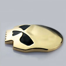 Chrome 3D Skull Bone Car Motor Bike Metal Emblem Badge Decals Sticker Gold black