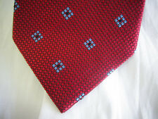 New BROOKS BROTHERS Blue Diamond on Red Silk Neck Tie  ~ NWOT