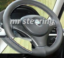 FITS BMW X1 E84 2009+ REAL ITALIAN LEATHER STEERING WHEEL COVER M-TECH STITCHING
