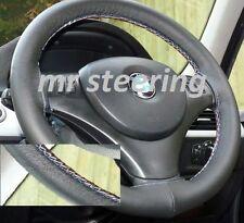 Adatto a BMW X1 E84 2009 + VERA PELLE ITALIANA Volante Copertura Cuciture M-TECH