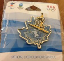 Vancouver 2010 Blue Canada Maple Leaf Snowboarding Olympic Pin