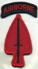 US Army Special Operations Command Airborne RED Patch