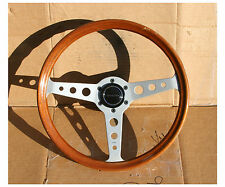 Vintage Stacked MOMO Nardi Personal Wood Steering Wheel Volvo P1800 Amazon 360mm