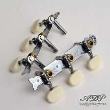 MECANIQUES GUITARE Std. AxeACIER TUNERS for Slotted Head 1:15 CREAM Button TK777