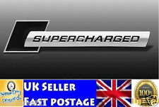 2x Black Supercharged Metal Emblem Badge Chrome AUDI Car Sticker A3 A4 S3 S4 A5
