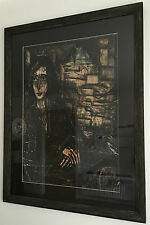 Bernard Buffet Rare Original Oil Painting Hand Signed Dated 1968 Framed