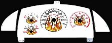 Cavalier Z24 White Face w/FLAMES Gauge Cluster 95 96 97 99   non indiglo