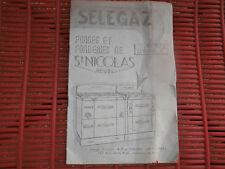 Notice d'emploi Cuisinière Fonte SELEGAZ Forges Fonderies ST NICOLAS REVIN 08