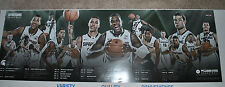 2014-15 Michigan State Spartans signed Autographed basketball schedule poster d