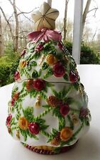 "Cookie Jar Christmas Tree Royal Albert ""Seasons of Color"" Old Country Roses Mint"