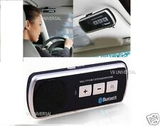 New Slim Magnetic Wireless Bluetooth Handsfree Car Kit Speaker Phone Visor Clip