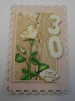 PK 2 HAPPY 30TH BIRTHDAY EMBELLISHMENT TOPPERS FOR CARDS OR CRAFTS