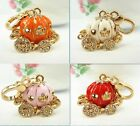 Orange/Red/White/Pink Pumpkin Carriage Charm Pendant New Crystal Halloween Gift