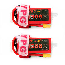 2 x YPG 1500mAH 14.8V 70C 4S Lipo Li-Po Lipoly Battery for RC Helicopter Hobby