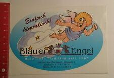 Aufkleber/Sticker: Blauer Engel Hotel mit Tradition Aue Sachsen (130816106)