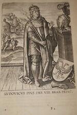 GRAVURE BELGIQUE LUDOVICUS PIUS LOUIS  BRABANT VEEN COLLAERT 1623 OLD PRINT R973