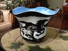 """Fenton """"Wild Horses"""" Bowl, Hand Carved, By Bomcamp, Murphy, Only 50 / NEW PICS!"""