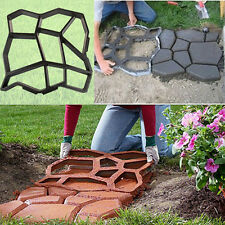 Driveway Paving Pavement Mold Patio Concrete Stepping Stone Path Walk Maker Tool