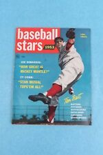 VINTAGE 1953 BASEBALL STARS MAGAZINE WITH ROBIN ROBERTS COVER BY DELL PUBLISHING