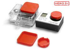Linsen Schutz f. GoPro Go Pro HD HERO3+ Zubehör Lens Cap Protector Abdeckung Red